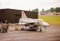 37391 @ EGVA - Another view of this JA-37 Viggen of the Swedish Air Force's F4 Wing at Östersund at the 1993 Intnl Air Tattoo at RAF Fairford. - by Peter Nicholson
