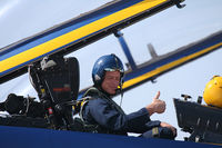 161723 @ AFW - Blue Angles media flight with ex-Dallas Cowboys Player Daryl Johnston - At Alliance Airport - Fort Worth, TX