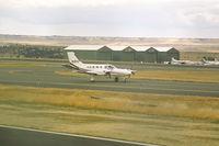 N10FB @ KBIL - Cessna 425 - by Daniel Ihde