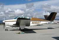 N116QT @ KWVI - Looking Good for 50! 1956 Beech H35 Bonanza @ Watsonville, CA - by Steve Nation