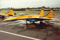 925 @ EGVA - Another view of the Gromov Flight Research Institute Fulcrum C on the flight-line at the 1993 Intnl Air Tattoo at RAF Fairford. - by Peter Nicholson
