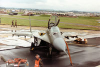 5414 @ EGVA - Another view of the MiG-29 Fulcrum A of the Czech Air Force based at Ceske Budejovice on the flight-line at the 1993 Intnl Air Tattoo at RAF Fairford. - by Peter Nicholson