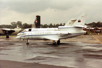 7401 @ EGVA - Falcon 50 of 504 Esquadron Portuguese Air Force on the flight-line at the 1993 Intnl Air Tattoo at RAF Fairford. - by Peter Nicholson