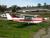N125SM @ O61 - 1968 Cessna 172K with evidence of wheels-up landing @ Cameron Airpark, CA - by Steve Nation
