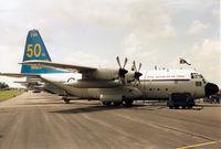 A97-178 @ EGVA - C-130E Hercules, callsign Aussie 163, of 37 Squadron Royal Australian Air Force on display at the 1993 Intnl Air Tattoo at RAF Fairford. - by Peter Nicholson