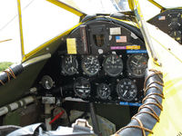 N4768V @ L52 - Close-up of cockpit Aircamp Biplane Rides Boeing E75 @ Oceano County Airport, CA - by Steve Nation