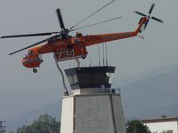 N178AC @ POC - During the Station Fire was parked on the northside of Brackett next to the tower.This was one of the machines that was dropping fire retardent and could not land on asphalt - by Helicopterfriend