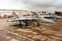 425 @ EGVA - KAF-18C Hornet of 9 Squadron Kuwait Air Force on the flight-line at the 1993 Intnl Air Tattoo at RAF Fairford. - by Peter Nicholson