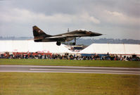 9207 @ EGVA - MiG-29A Fulcrum of 11 SLP Czech Air Force taking off at the 1993 Intnl Air Tattoo at RAF Fairford. - by Peter Nicholson