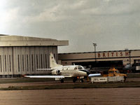 61-0677 @ LHR - T-39A Sabreliner visiting London Heathrow in September 1974. - by Peter Nicholson