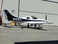 N122LL @ CNO - Parked next to a hanger - by Helicopterfriend