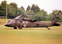 86-24531 @ MHZ - UH-60A Blackhawk of the US Army's 45th Medical Company based in Germany on duty at the 1998 RAF Mildenhall Air Fete. - by Peter Nicholson