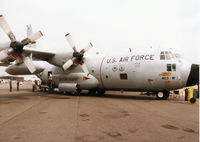 65-0967 @ MHZ - WC-130H Hercules of the 53rd Weather Reconnaissance Squadron/403rd Airlift Wing at Keesler AFB on display at the 1998 RAF Mildenhall Air Fete. - by Peter Nicholson