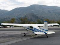 N4809E @ SZP - Cessna 180K SKYWAGON, Continental O-470-S 230 Hp, taxi - by Doug Robertson