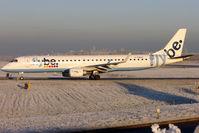 G-FBEM @ EGBB - FlyBe's 2008 Embraer ERJ-190-200LR, c/n: 19000204 at a snowy BHX