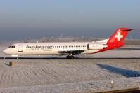 HB-JVI @ EGBB - Helvetic Airways Fokker-bv 100(F-28-0100), c/n: 11325 at Birmingham