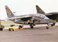 E149 @ MHZ - Alpha Jet of ETO 01.008 of the French Air Force at Cazaux on the flight-line at the 1998 RAF Mildenhall Air Fete. - by Peter Nicholson