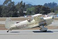 N88EH @ KWVI - Santa Maria, CA-based 1970 Hooper EAA Biplane Woodstock arriving @ 2010 Watsonville Fly-in - by Steve Nation