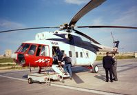 LZ-CAR @ LMMG - Mil Mi-8P HIP operated for Malta Aircharter at Gozo heliport - by Ingo Warnecke