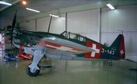 HB-RCF @ LSZR - Morane-Saulnier (EFW) D-3801 / MS.406 C-1 at the Fliegermuseum Altenrhein