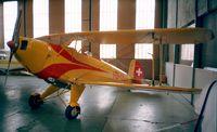 HB-UUY @ LSZR - Bücker (FFA) Bü 131 APM Jungmann (Lycoming engine) at the Fliegermuseum Altenrhein