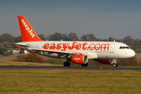 G-EZAW @ EGGW - easyJet A319 taxying to RW26 - by Chris Hall