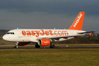 G-EZAW @ EGGW - easyJet A319 departing from RW26 - by Chris Hall