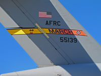 05-5139 @ KWVI - Close-up of tail band on AFRC 452nd AMW C-17A from March AFB @ 2010 Watsonville Fly-in - by Steve Nation