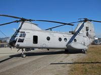 153368 @ KWVI - HMM-268 CH-46E YQ-10 on military ramp @ 2010 Watsonville Fly-in - by Steve Nation