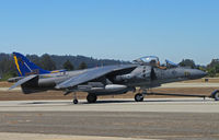 165006 @ KWVI - VMA-513 Nightmares AV-8B(+) WF-01 with blue & gold tail being towed to military display ramp @ 2010 Watsonville Fly-in - by Steve Nation