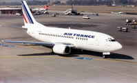 F-GJNJ @ GVA - Boeing 737-538 of Air France arriving at Geneva in March 1993. - by Peter Nicholson