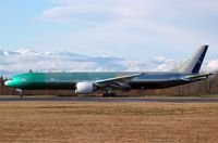 F-OREU @ KPAE - KPAE Boeing 996 unpainted and unusual for a wide body has the actual reg taped in place of a test reg.
