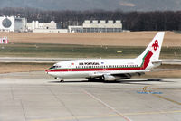 CS-TEP @ GVA - Boeing 737-282 of Air Portugal taxying to the terminal at Geneva in March 1993. - by Peter Nicholson
