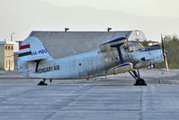HA-MBG @ HELX - Hungarian Air's Antonov AN-2R, c/n: 1G163-29 on the Luxor ramp