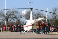 N816WM - Robinson R-44 on Santa Duty at Six Flags - Hurricane Harbor - Arlington, TX