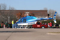 N1080N - Bell 206 on Santa Duty at Six Flags - Hurricane Harbor - Arlington, TX - by Zane Adams
