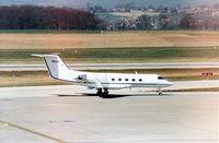 N104AR @ GVA - Gulfstream III seen at Geneva in March 1993. - by Peter Nicholson