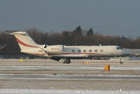 A6-FLG @ EGCC - Gulfstream GIV-X landing on RW05L - by Chris Hall