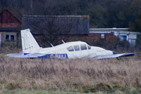 G-BAUJ @ EGTC - put out to grass, De-registered 31/10/2002, Cancelled by CAA - by Chris Hall