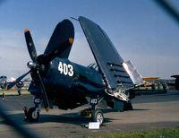 F-AZVJ @ EDNY - Vought F4U-4 Corsair at the AERO 2001, Friedrichshafen