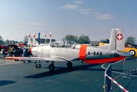 HB-RBU @ EDNY - Pilatus P-3-05 at the AERO 2001, Friedrichshafen