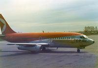 CF-CPU @ YYC - CP Air , B737 at Calgary , 1974 - by Henk Geerlings