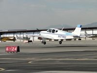 N1417G @ CCB - Almost down on the runway - by Helicopterfriend