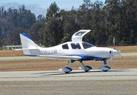 N1422M @ KWVI - 2006 Richard Lancair ES taxiing in at 2010 Watsonville Fly-In - by Steve Nation