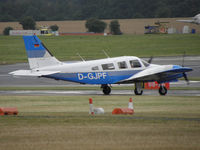 D-GJPF @ EGBP - German Reg Piper PA-34 Sceneca visiting Kemble - by Manxman