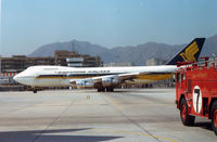 9V-SIA @ HKG - SIA B747 at HKG Kai Tak Airport 1977 - by Henk Geerlings