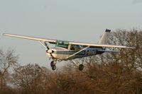 G-BRND @ EGBD - landing at Derby-Eggington airfield - by Chris Hall