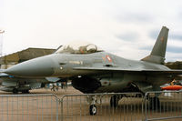 E-198 @ EGQL - F-16A Falcon of Esk 723 of the Royal Danish Air Force based at Aalborg on display at the 1986 RAF Leuchars Airshow. - by Peter Nicholson
