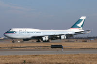 B-HKX @ DFW - Cathay Pacific Lines 747 freighter at DFW Airport