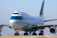 B-HKX @ DFW - Cathay Pacific Lines 747 freighter at DFW Airport - by Zane Adams
